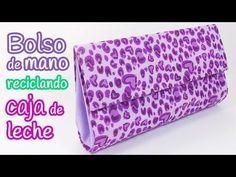 Manualidades: BOLSO de mano reciclando CAJA de LECHE - Innova Manualidades - YouTube