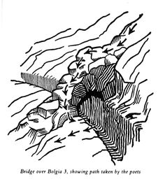 Bridge over Bolgia 3 (Canto XIX) – By C.W. Scott-Giles, for Dorothy Sayers translation of the Divine Comedy (1949)