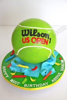 Celebrate with Cake! Tennis Cake, Tennis Party, Sport Cakes, Man Birthday, Birthday Cakes, Happy Birthday, Pastel, Novelty Cakes, Food Crafts