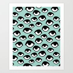 Eyes on you  Art Print by Andrea Lauren Design - $16.00