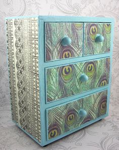 Furniture For Sale In Houston Peacock Bedroom, Peacock Decor, Peacock Colors, Peacock Blue, Peacock Print, Upcycled Crafts, Painted Chairs, Painted Furniture, Blue Furniture Inspiration