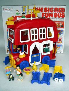 Big Red Fun Bus - best toy I ever had, wish I could get one for Ellie