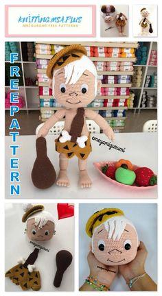 Amigurumi Bambam Free Crochet Pattern - Amigurumi - Clothes and Crafts Minion Crochet Patterns, Minion Pattern, Crochet Gratis, Crochet Toys, Free Crochet, Crochet Clothes, Pattern Cute, Bambam, Baby Blanket Crochet