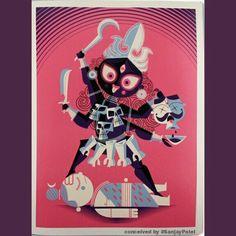 "#Shakti  ""Shiva is shava without Shakti"" : Adi Shankara  [This Art is conceived by 'Sanjay Patel' for #Pixar]"