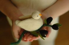 waldorfmama :: felted bird and olive branch by etsy's thesingingbird