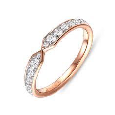 Alliance diamant Or Rose Invidia