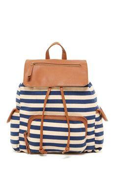 Flap Pocket Drawstring Backpack by Steve Madden