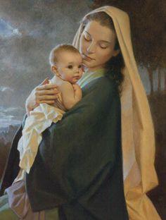 virgen maria y jesus y jose - Buscar con Google via Daniel Beisaga