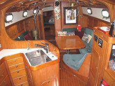 Ta Shing Panda 38 Cutter boats for sale Liveaboard Sailboat, Liveaboard Boats, Sailboat Interior, Yacht Interior, Sailboat Yacht, Yacht Boat, Luxury Jets, Wooden Sailboat, Sailboat Living