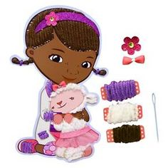 Doc McStuffins Fun to Lace Doc Mcstuffins, Yarn Colors, Children, Kids, Embellishments, Minnie Mouse, Disney Characters, Fictional Characters