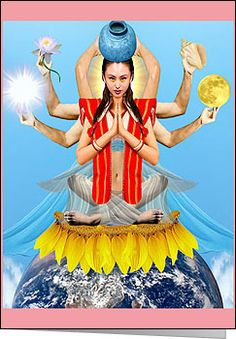 Quan Yin Goddess of Compassion  White Buffalo Calf Woman - Native American Goddess who brought Herbal Medicine and The Pipe