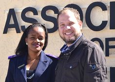 Senior Nurse Christolina Kavetuna and Rolf Hansen, Chief Executive Officer of the Cancer Association of Namibia.