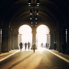 Biking through the light under the Rijksmuseum