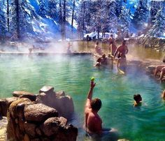 Strawberry Park Hot Springs in Steamboat Springs, Colorado - Scenic Hot Springs That Will Feed Your Soul And Your Wanderlust - Photos Vacation Destinations, Dream Vacations, Vacation Spots, Honeymoon Spots, Oh The Places You'll Go, Places To Travel, Places To Visit, Strawberry Park Hot Springs, Just Dream