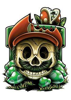 Mario Game Over temporary tattoo. www.tattmetattoos.com #temporarytattoos