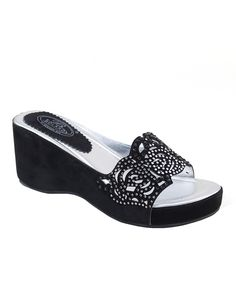 Look at this Black Stud Maze Sandal on #zulily today!