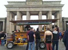 Berlin stag party on a beer bike