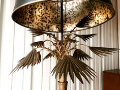 Tall Bronze Brass Mid Century Modern Palm Tree by OffCenterModern