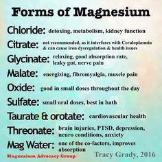 Forms of Magnesium #TeamOwnYourLife #MagnesiumBenefits