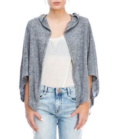 This Heather Gray Hooded Open Cardigan by Love & Love is perfect! #zulilyfinds