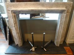 Late 19th Century Travertine Fireplace #renaissancelondon