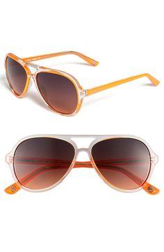 bf268b0280 Michael Kors Aviators - LOVE the pop of color! I have a sunglasses  addiction!