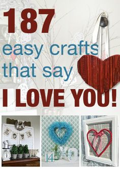 187 ways to decorate with love on Valentine's day! Holiday Fun, Holiday Crafts, Fun Crafts, Crafts For Kids, Spring Crafts, Holiday Recipes, My Funny Valentine, Love Valentines, Valentines Day Decorations