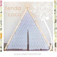 Essa linda tendinha é a Tenda Coco da Zoe Vivá.  Uma graça!  Disponível na nossa loja virtual http://www.zoeviva.com.br/tendinhacoco  #tendas #teepee #floripa #brinquedo #waldorf #montessori