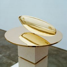 Constantin Brancusi, Le Poisson, 1926-1992, polished bronze, 5 3/4 inches high x 17 3/4 inches