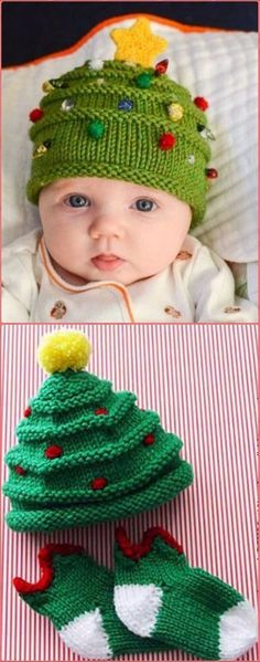 Knit Christmas Tree Hat Free Pattern - Crochet Christmas Hat Gifts Free Patterns