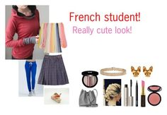 """""""For Scarlett (friend) - Scarlett's ideal wardrobe by me: #413: French student!"""" by sarah-m-smith ❤ liked on Polyvore featuring Monrow, Chloé, Lancaster, Lanvin, Ilia, NARS Cosmetics, Kevyn Aucoin, Sigma and Edward Bess"""
