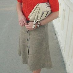 Sassy Secretary Upcycled Skirt | AllFreeSewing.com