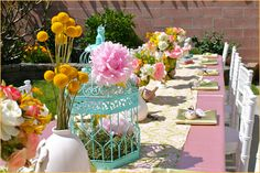 Shabby Chic Party - Love the colors