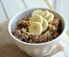 Healthy Crock Pot Banana Bread Quinoa - 6 PointsPlus #weightwatchers