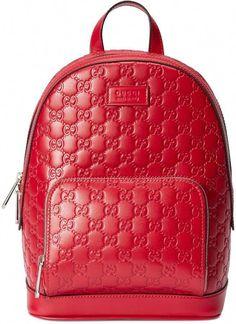3d91048c14d0 Gucci Signature leather backpack  Designerhandbags Red Backpack