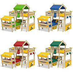 Uberlegen WICKEY Doppelbett CrAzY Trunky Etagenbett Kinderbett 90x200 Für 2 Kinder In  Schrägem Design Mit Lattenboden,