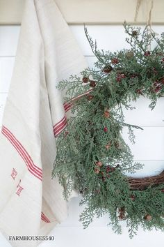 Mini wreaths with faux juniper