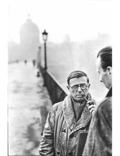 Jean-Paul Sartre | From a unique collection of black and white photography at https://www.1stdibs.com/art/photography/black-white-photography/