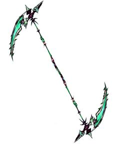 Double sided poison scythe