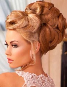 chignon large meches superposee