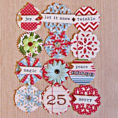 December Daily Christmas Embellishments. $4.99, via Etsy.