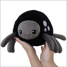 Mini Squishable Spider: An Adorable Fuzzy Plush to Snurfle and Squeeze! Sewing Stuffed Animals, Cute Stuffed Animals, Kawaii Plush, Cute Plush, Foam Crafts, Arts And Crafts, Plushie Patterns, Maila, Halloween Spider