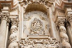 A fragment of an ancient church in Elche, Spain.