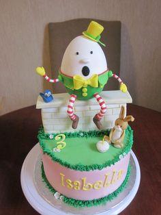 humpty dumpty cake ...how cute!