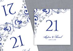 Table Number Card Template  Instant by DiyWeddingTemplates on Etsy, $8.00