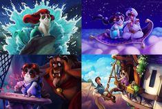The Never-ending Fan Art Tributes to Disney Princesses
