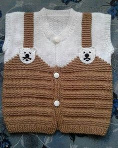 Bebek yün işleri – Knitting patterns, knitting designs, knitting for beginners. Kids Knitting Patterns, Baby Sweater Knitting Pattern, Knitting For Kids, Easy Knitting, Baby Patterns, Crochet Baby Sweaters, Knitted Baby Cardigan, Diy Crafts Knitting, Pull Bebe