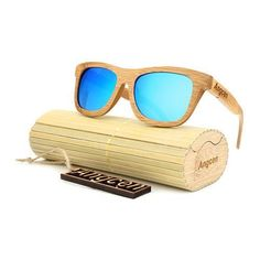 Bamboo Wood Sunglasses -Polarized handmade wooden shades in a wayfarer that Floats! Wooden Sunglasses, Retro Sunglasses, Sunglasses Sale, Polarized Sunglasses, Mirrored Sunglasses, Marco Polaroid, Retro Vintage, Vintage Wood, Vintage Style