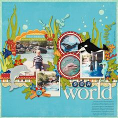 Vacation scrapbook page by Sacagawea