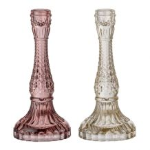 PINK AND CLEAR ETCHED COLOURED GLASS CANDLESTICK FOR WEDDING OR PARTY DECOR   Candleholders Archives - Hire and Style | Hire and Style